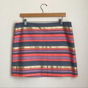 J. Crew Striped Mini Skirt